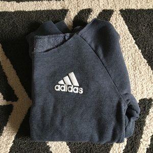 Adidas size L white stripe nation sweatshirt